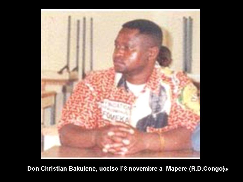 Don Christian Bakulene, ucciso l'8 novembre a Mapere (R.D.Congo)
