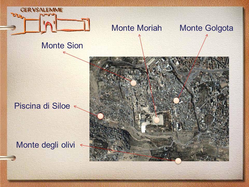 Monte Moriah Monte Golgota Monte Sion Piscina di Siloe Monte degli olivi