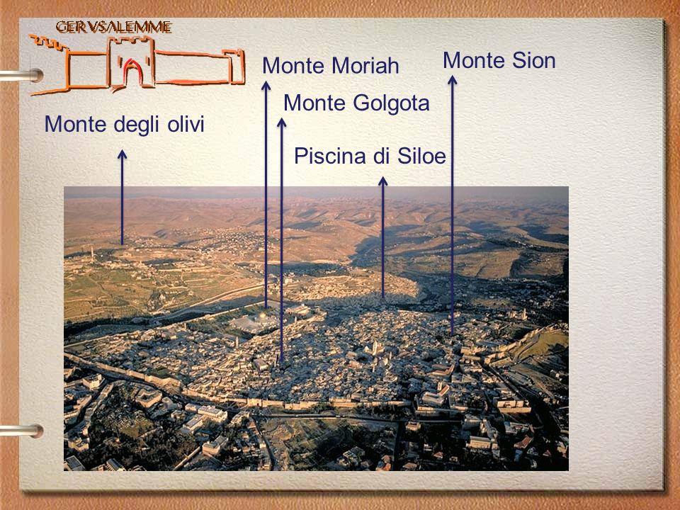 Monte Sion Monte Moriah Monte Golgota Monte degli olivi Piscina di Siloe