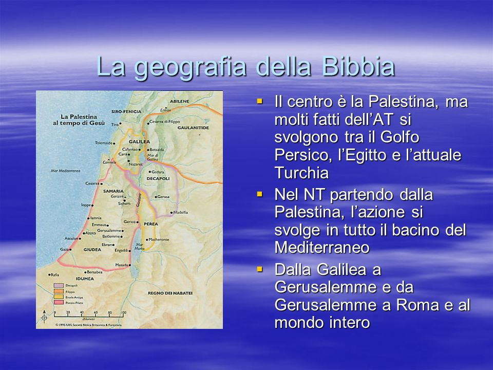 La geografia della Bibbia