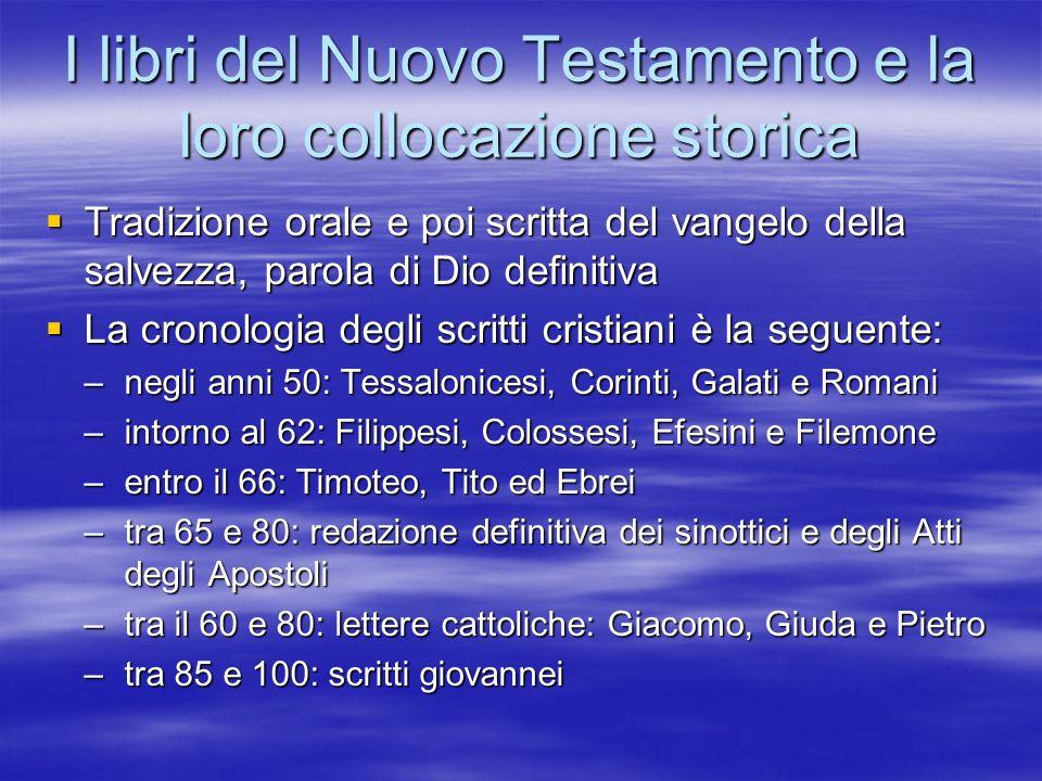 I libri del Nuovo Testamento e la loro collocazione storica