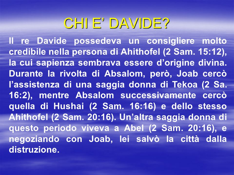 CHI E' DAVIDE