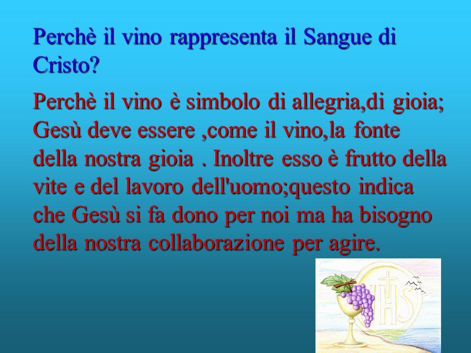 Perchè il vino rappresenta il Sangue di Cristo