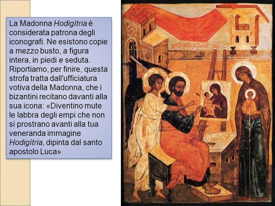 La Madonna Hodigìtria è considerata patrona degli iconografi