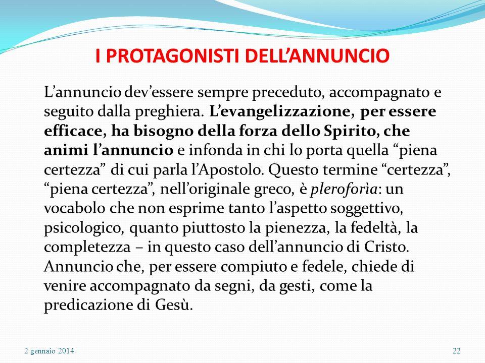 I PROTAGONISTI DELL'ANNUNCIO