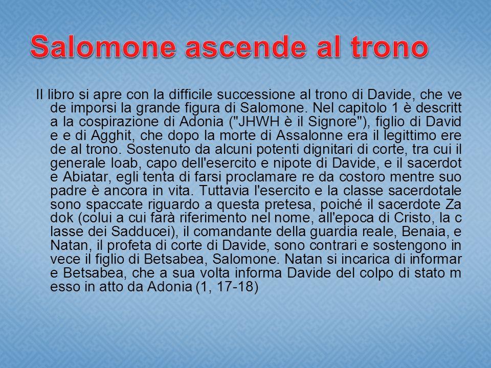 Salomone ascende al trono