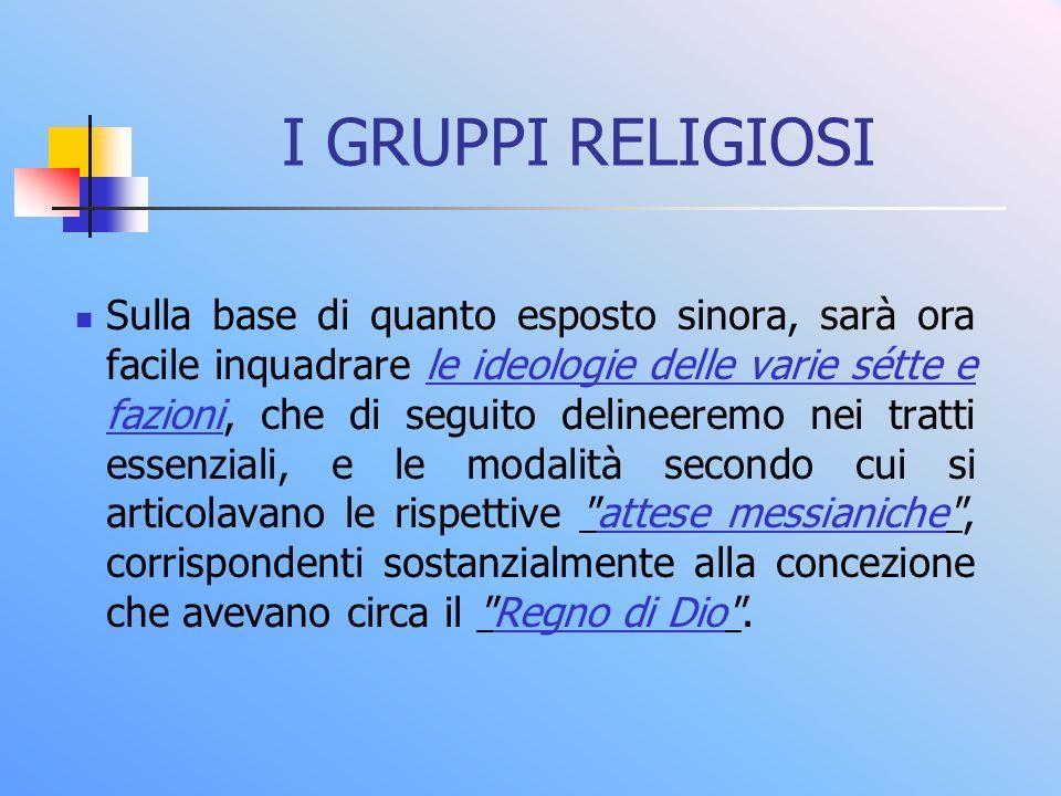 I GRUPPI RELIGIOSI