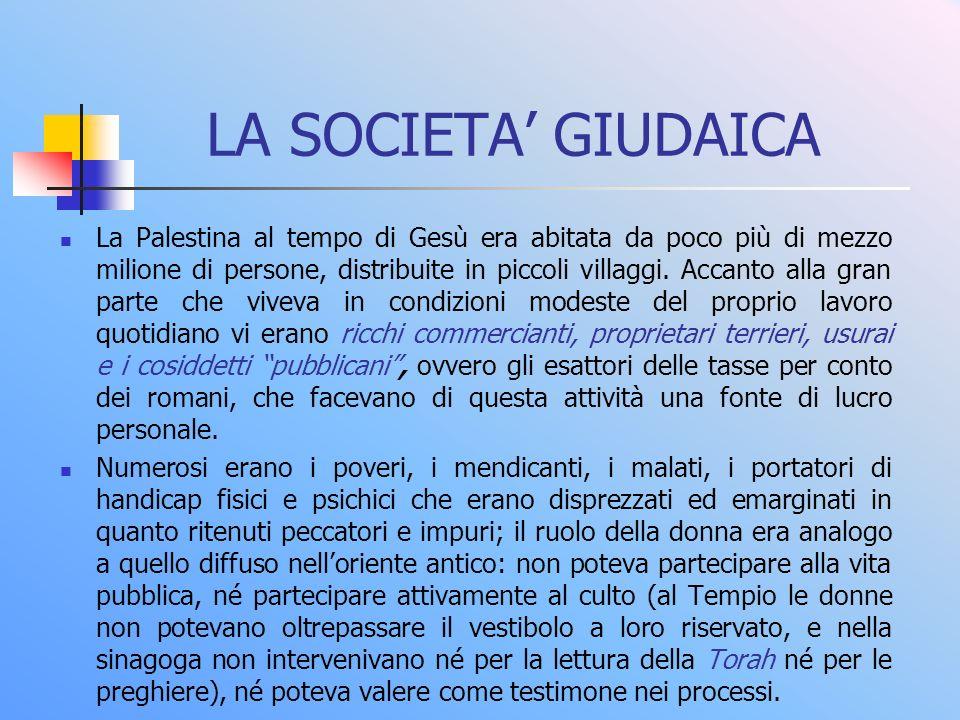 LA SOCIETA' GIUDAICA