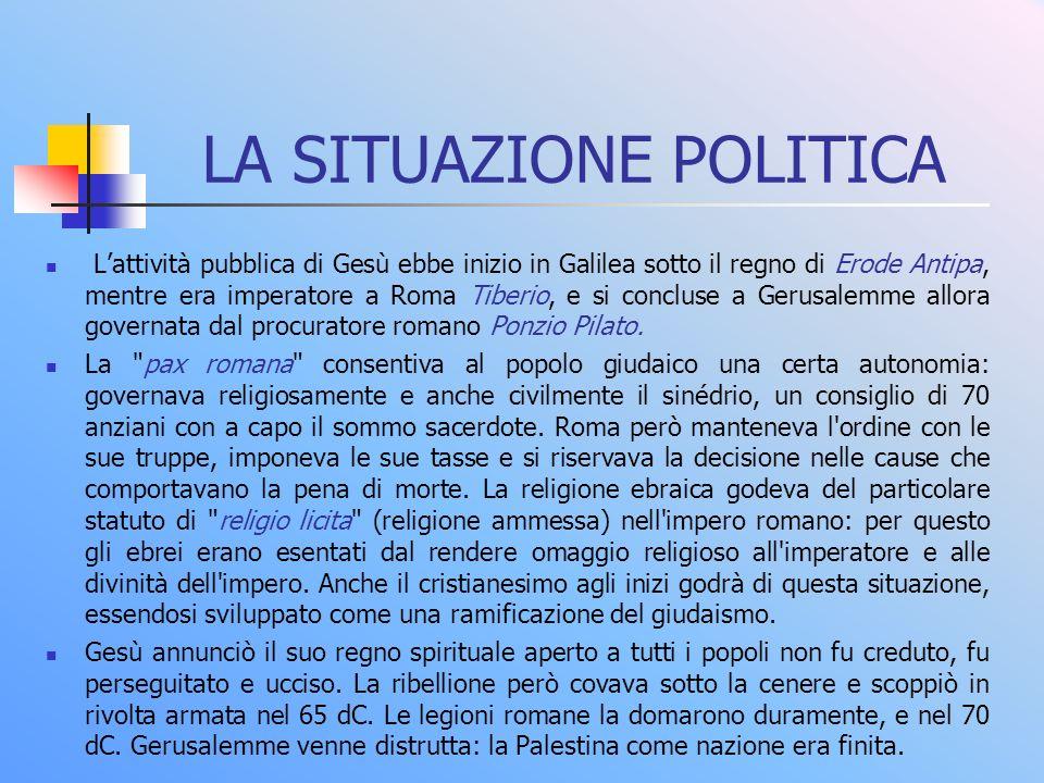 LA SITUAZIONE POLITICA