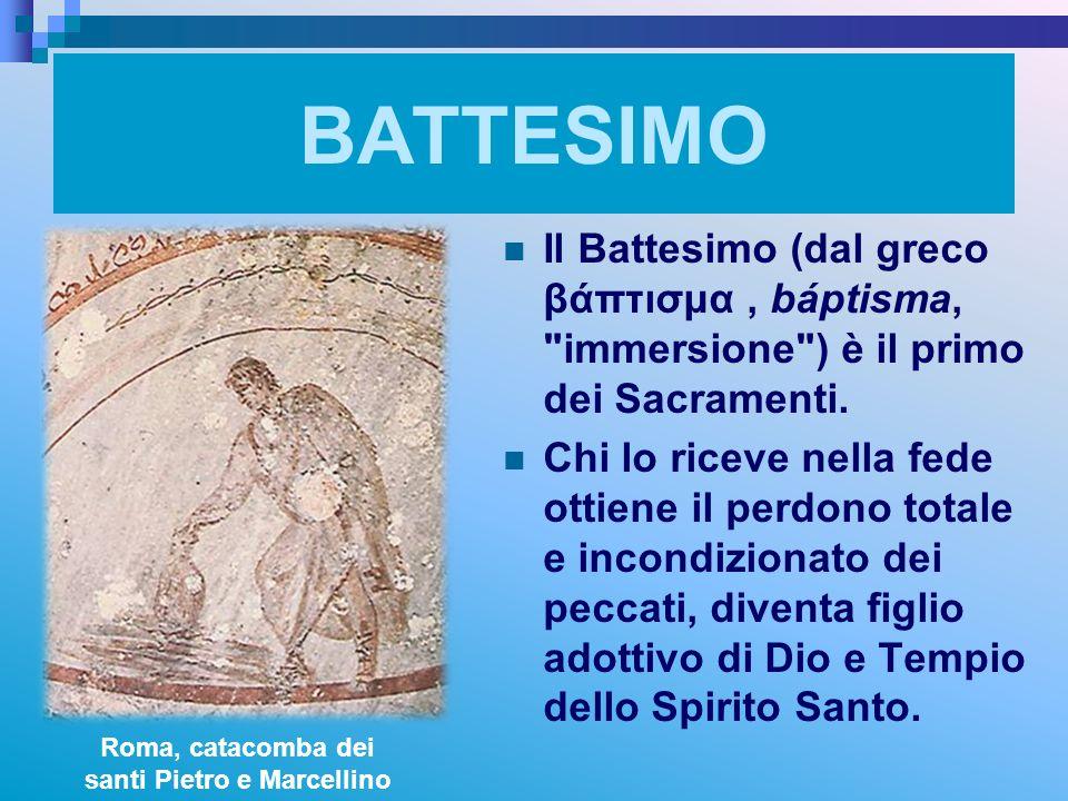 Roma, catacomba dei santi Pietro e Marcellino