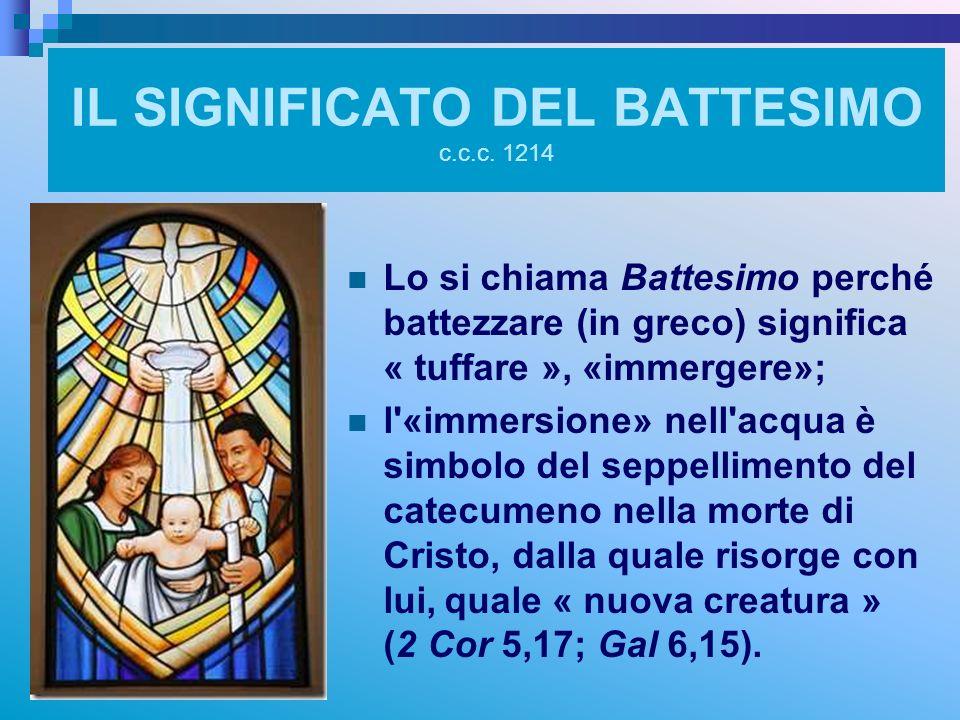 IL SIGNIFICATO DEL BATTESIMO c.c.c. 1214