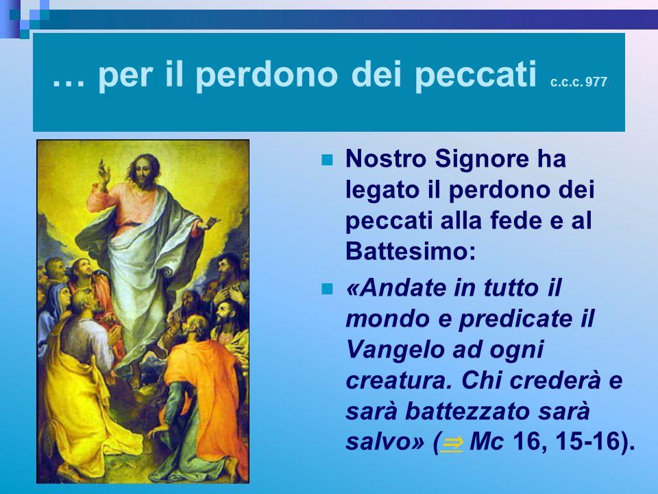 … per il perdono dei peccati c.c.c. 977