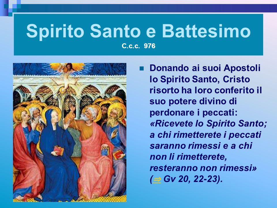 Spirito Santo e Battesimo C.c.c. 976
