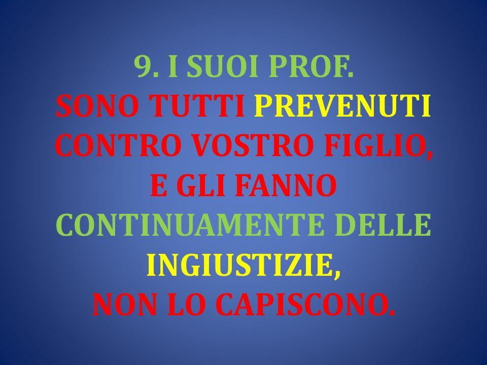 9. I SUOI PROF.