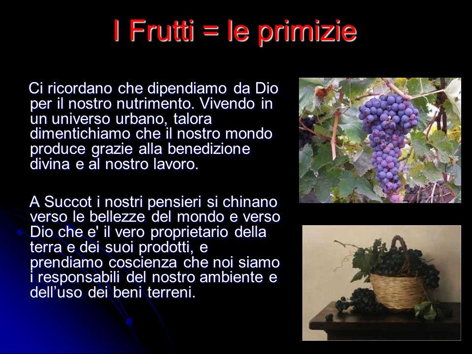 I Frutti = le primizie