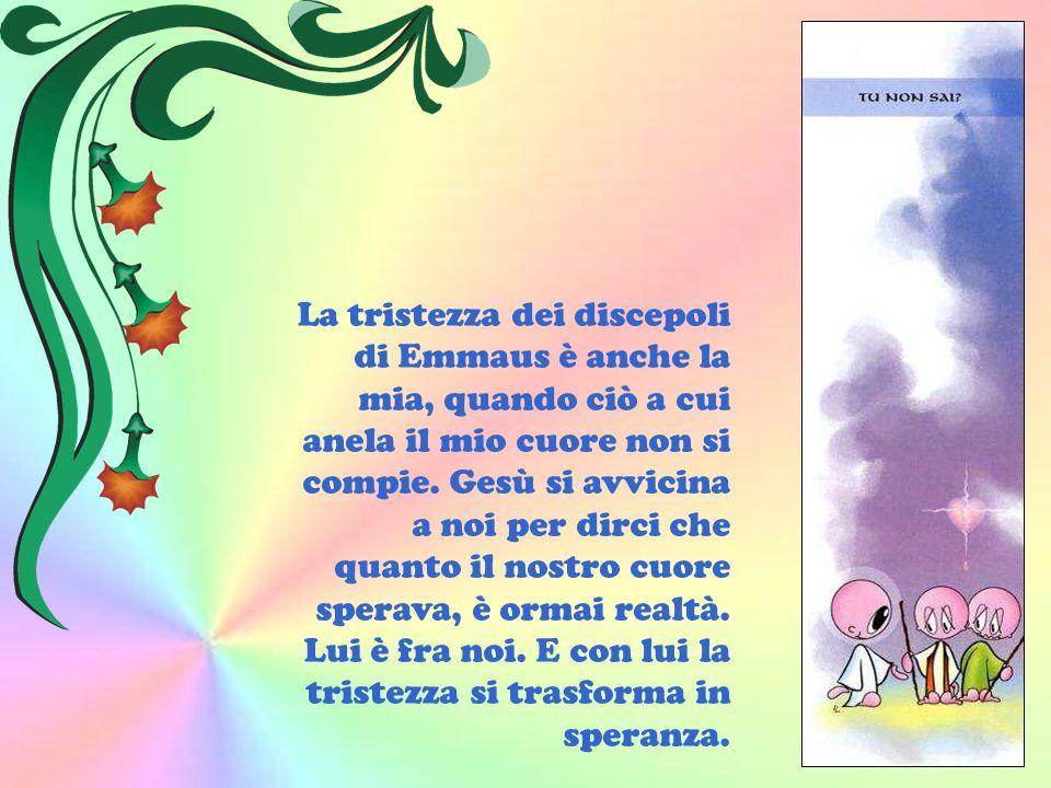La tristezza dei discepoli di Emmaus è anche la mia, quando ciò a cui anela il mio cuore non si compie.