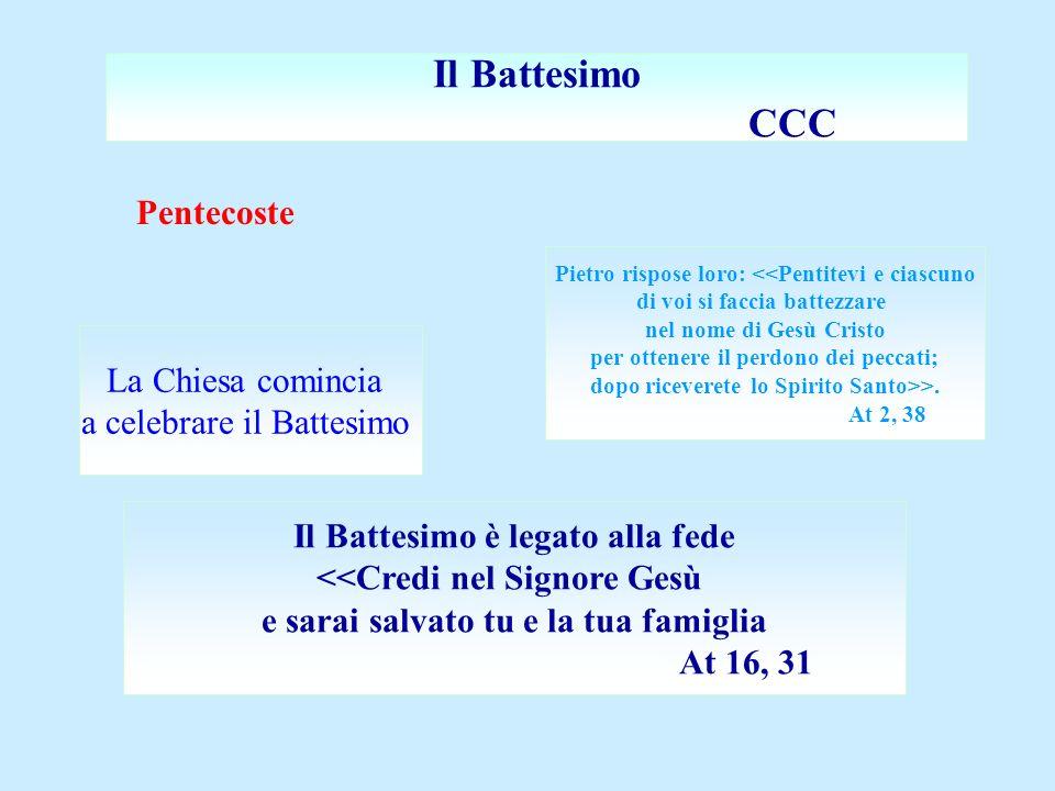 Il Battesimo CCC Pentecoste La Chiesa comincia