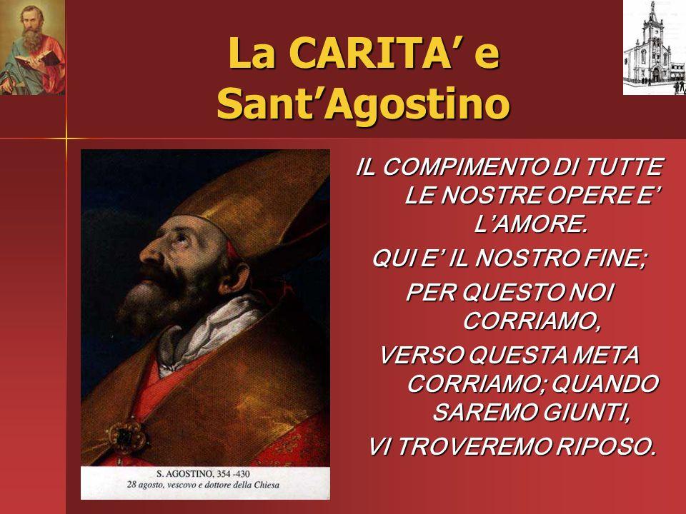 La CARITA' e Sant'Agostino
