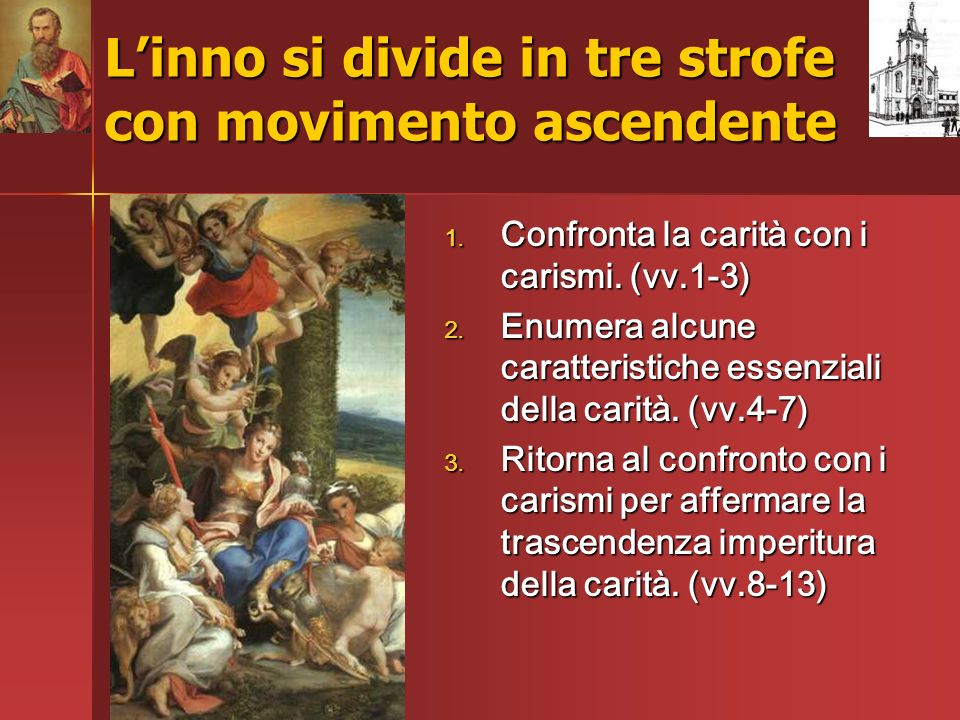 L'inno si divide in tre strofe con movimento ascendente