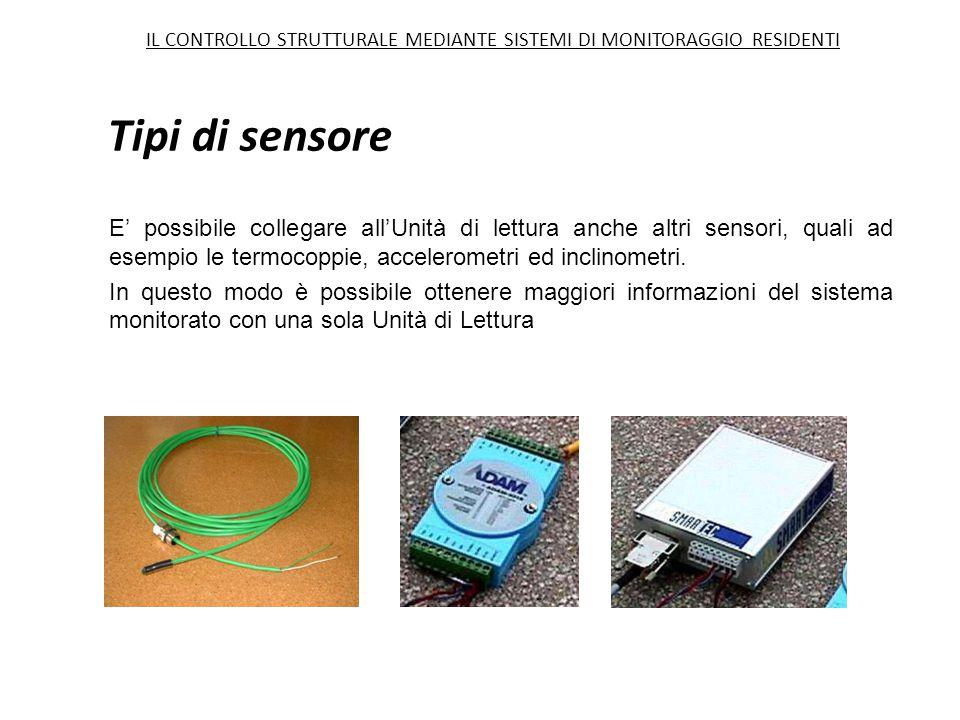 Tipi di sensore IL CONTROLLO STRUTTURALE MEDIANTE SISTEMI DI MONITORAGGIO RESIDENTI.