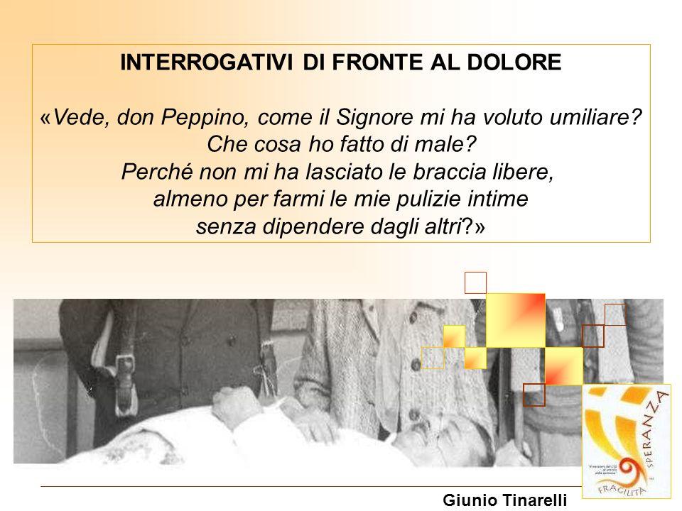 INTERROGATIVI DI FRONTE AL DOLORE