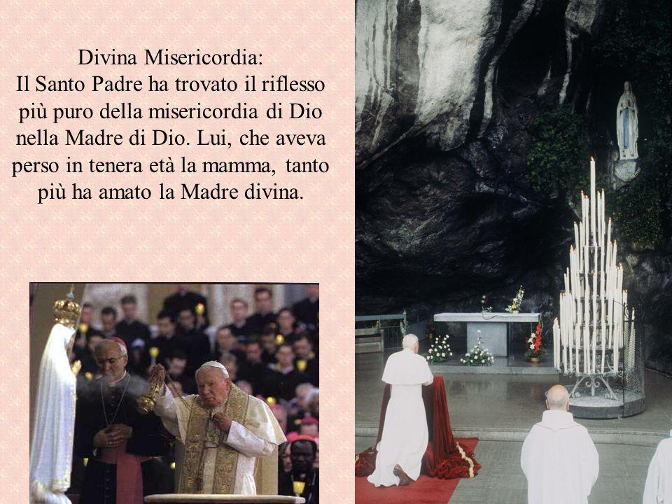 Divina Misericordia: Il Santo Padre ha trovato il riflesso più puro della misericordia di Dio nella Madre di Dio.