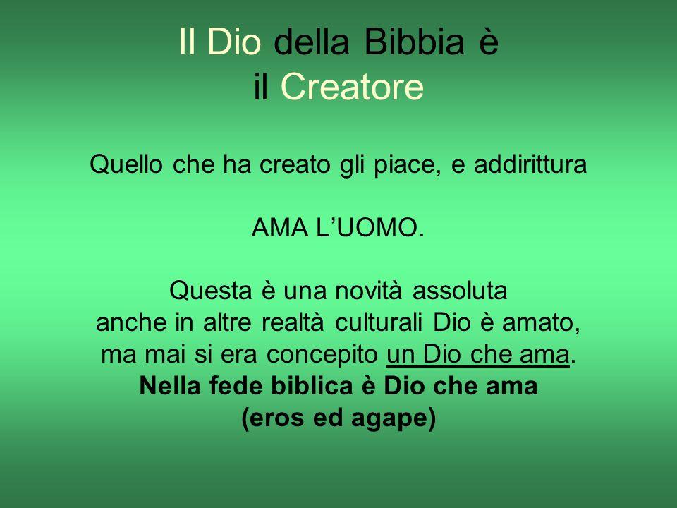 Il Dio della Bibbia è il Creatore