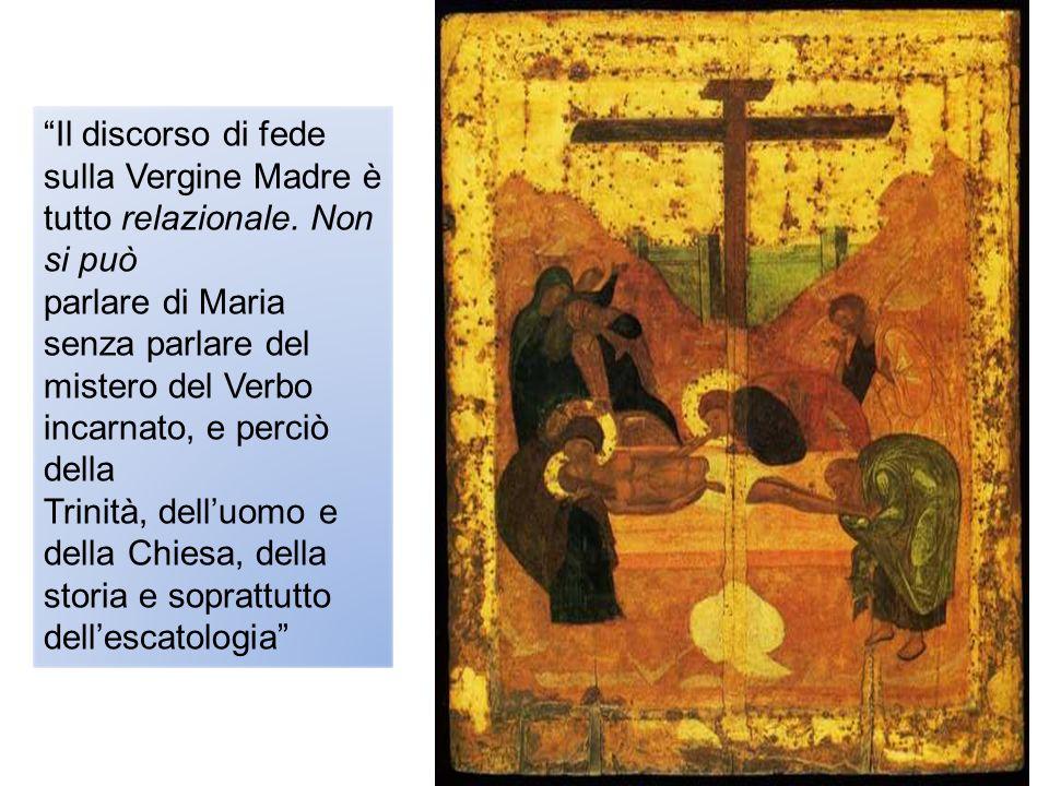 Il discorso di fede sulla Vergine Madre è tutto relazionale