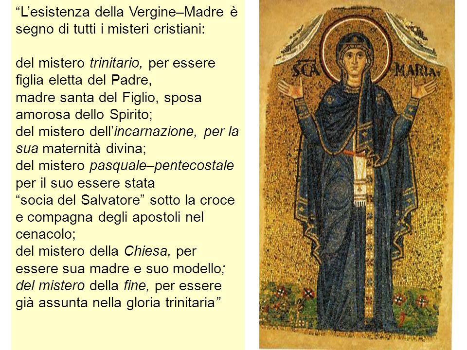 L'esistenza della Vergine–Madre è segno di tutti i misteri cristiani: