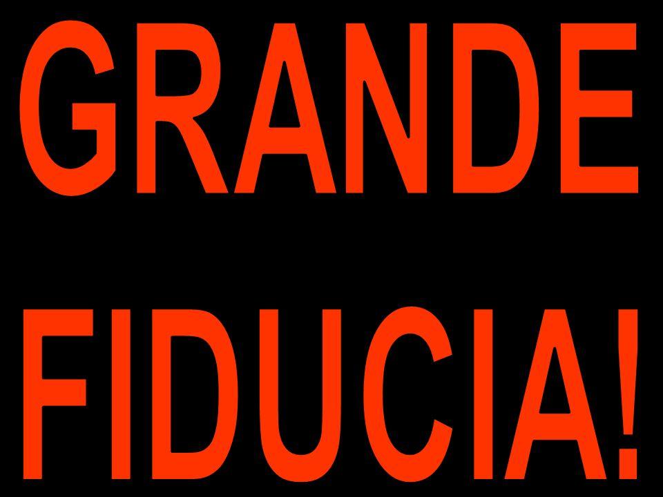 GRANDE FIDUCIA!