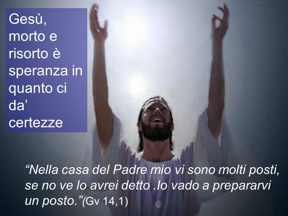 Gesù, morto e risorto è speranza in quanto ci da' certezze