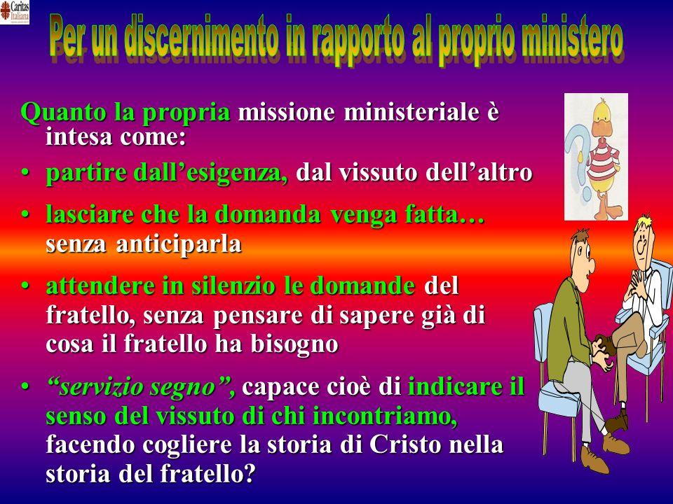 Per un discernimento in rapporto al proprio ministero