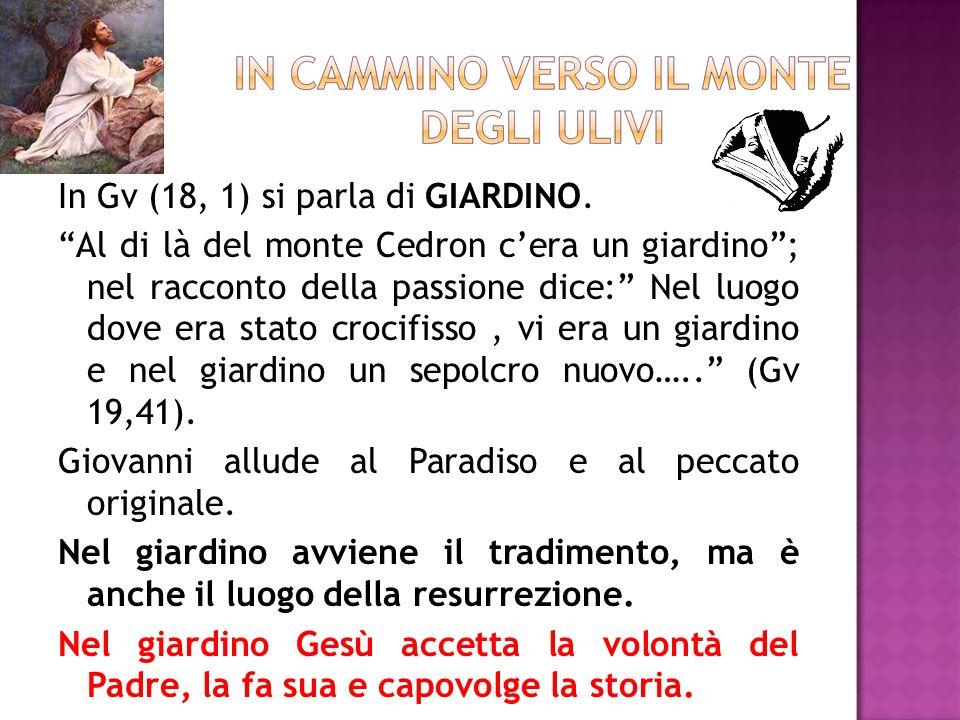 In Gv (18, 1) si parla di GIARDINO