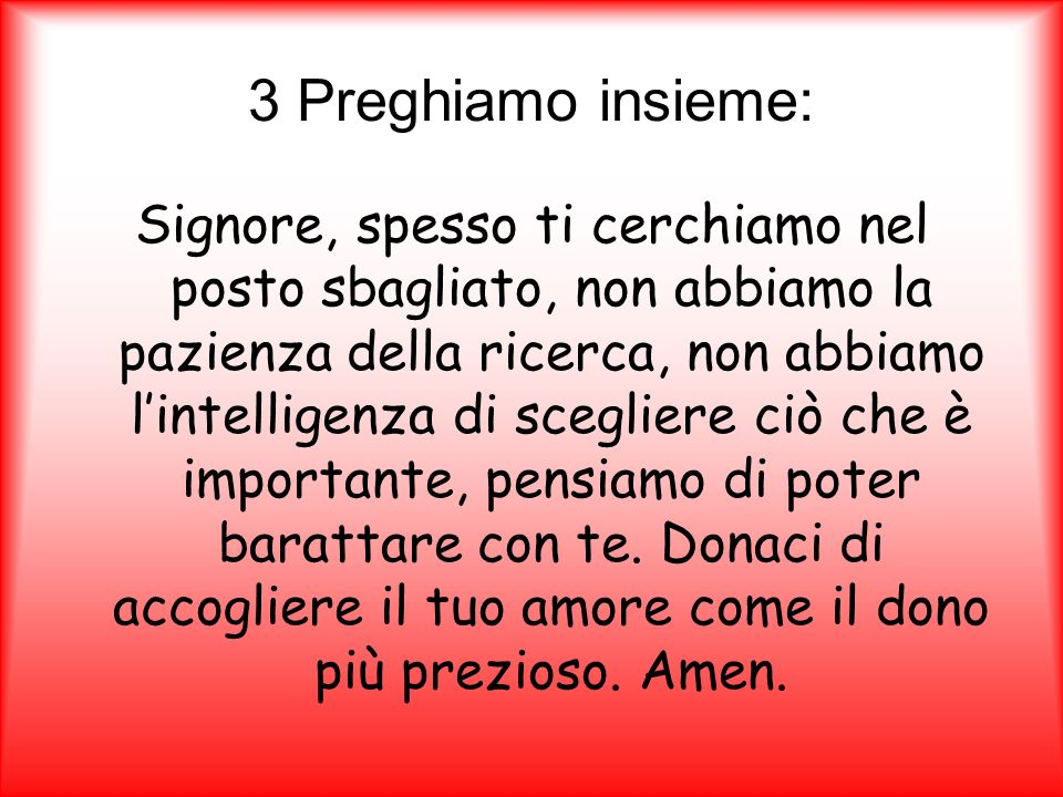 3 Preghiamo insieme: