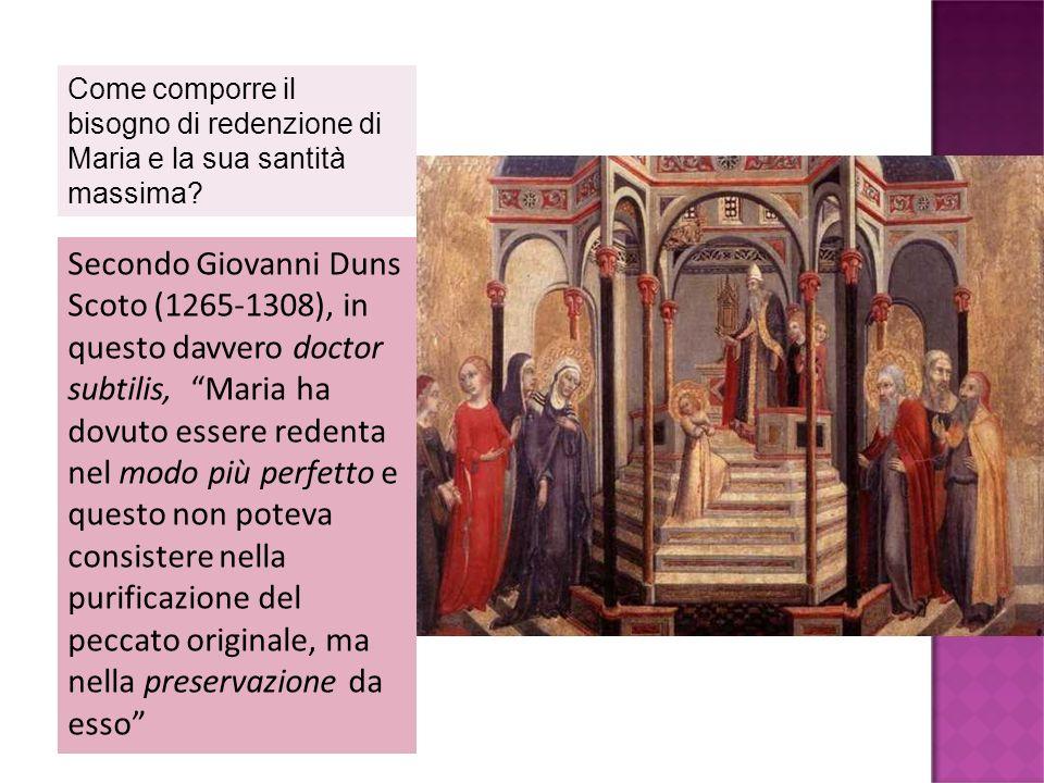 Come comporre il bisogno di redenzione di Maria e la sua santità massima