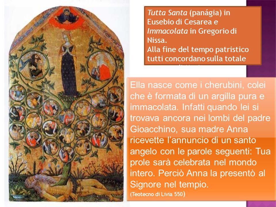 Tutta Santa (panágia) in Eusebio di Cesarea e Immacolata in Gregorio di Nissa.