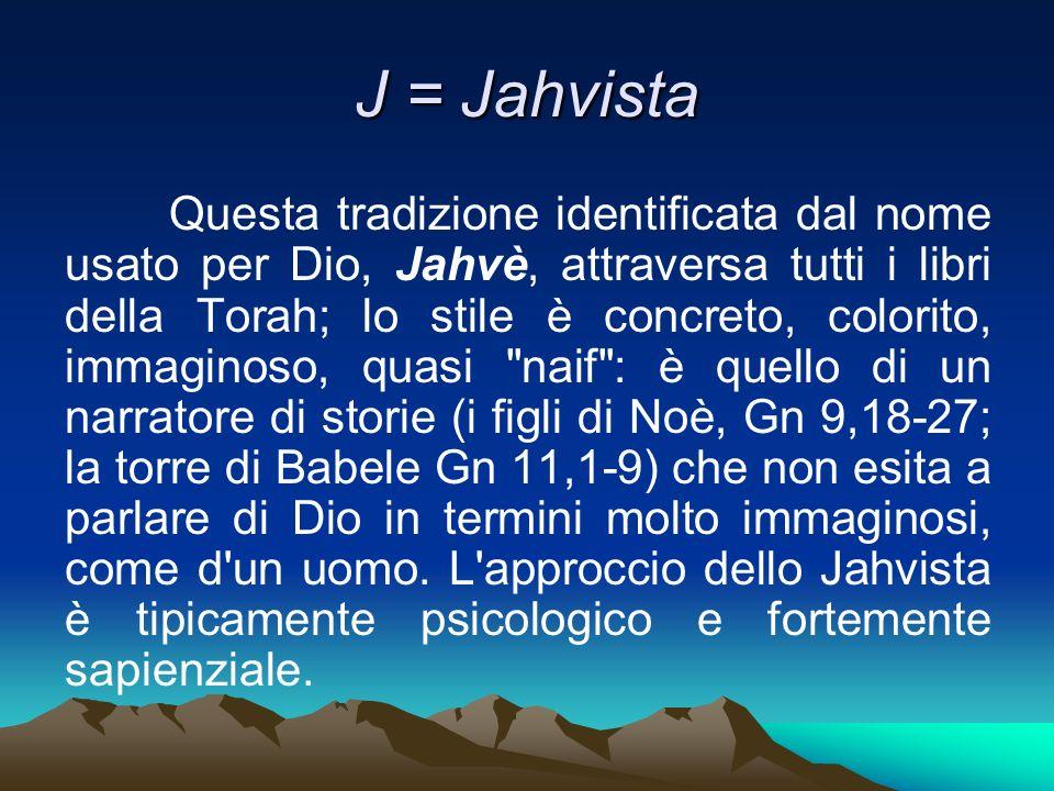 J = Jahvista