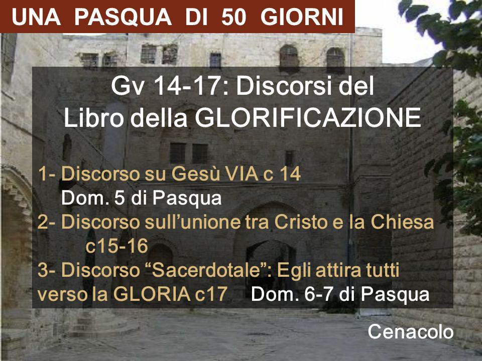 Gv 14-17: Discorsi del Libro della GLORIFICAZIONE