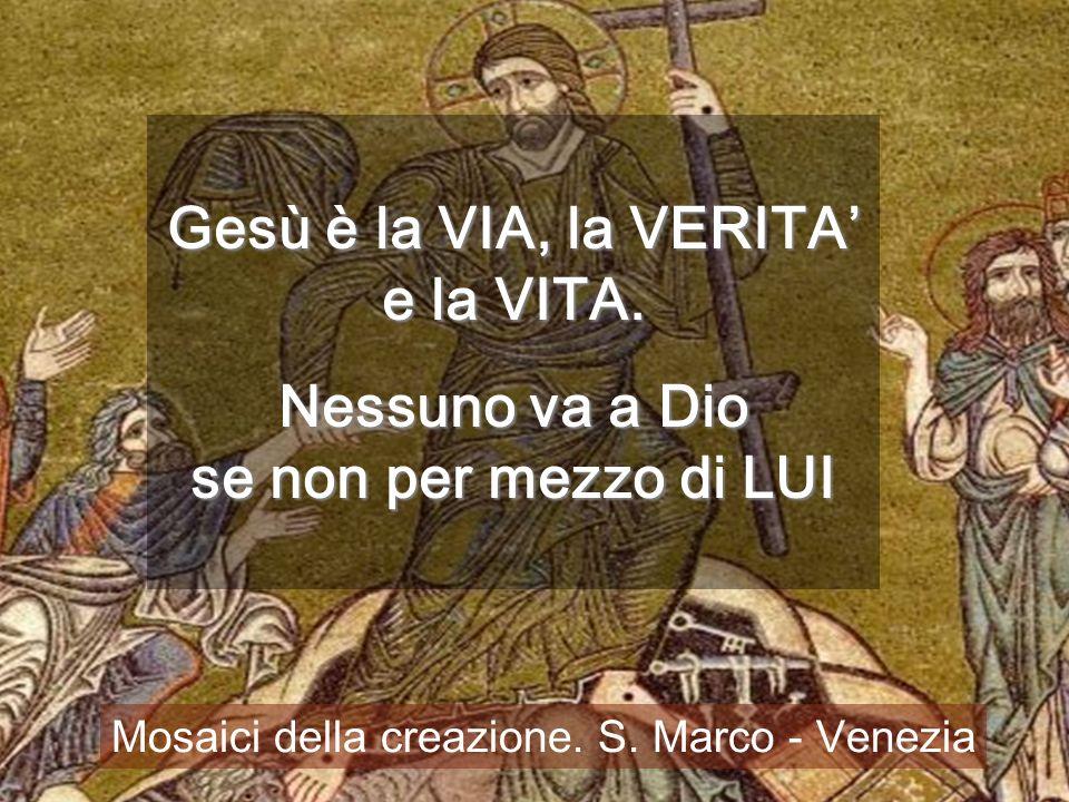 Gesù è la VIA, la VERITA' e la VITA.