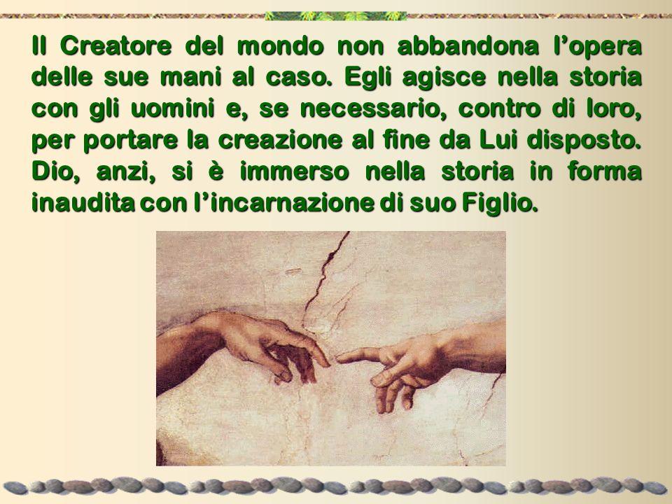 Il Creatore del mondo non abbandona l'opera delle sue mani al caso