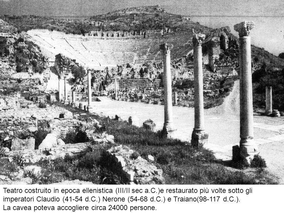 Teatro costruito in epoca ellenistica (III/II sec a. C