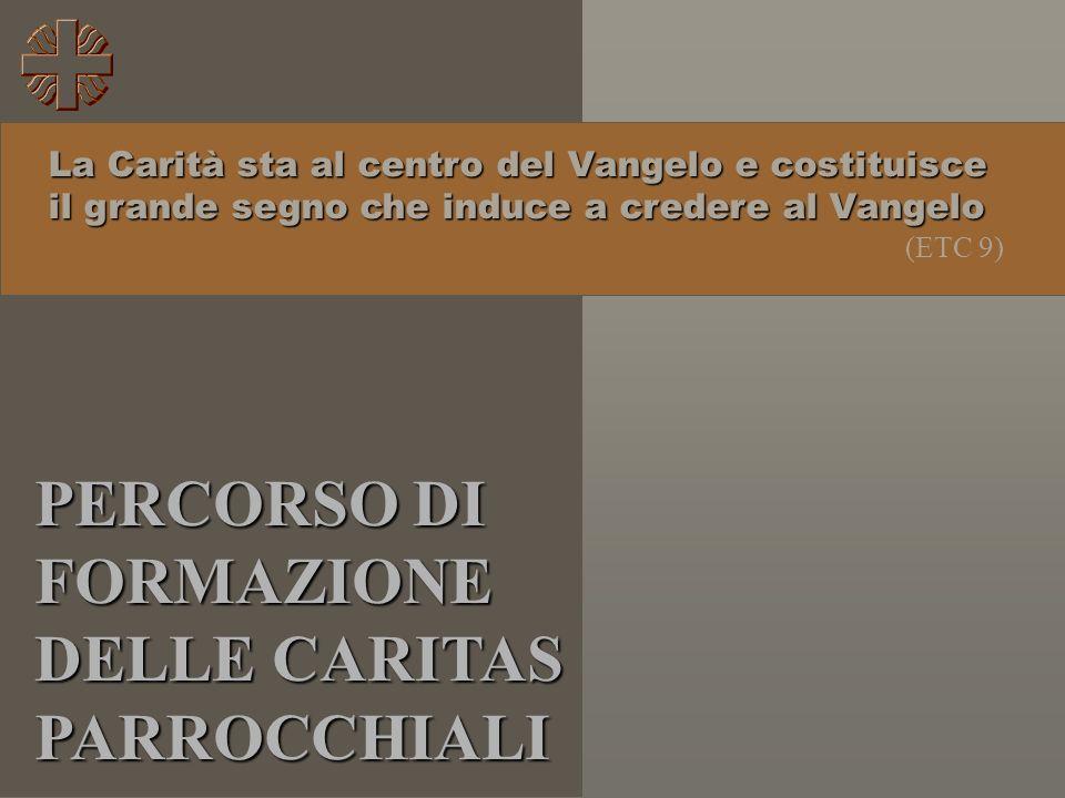 PERCORSO DI FORMAZIONE DELLE CARITAS PARROCCHIALI