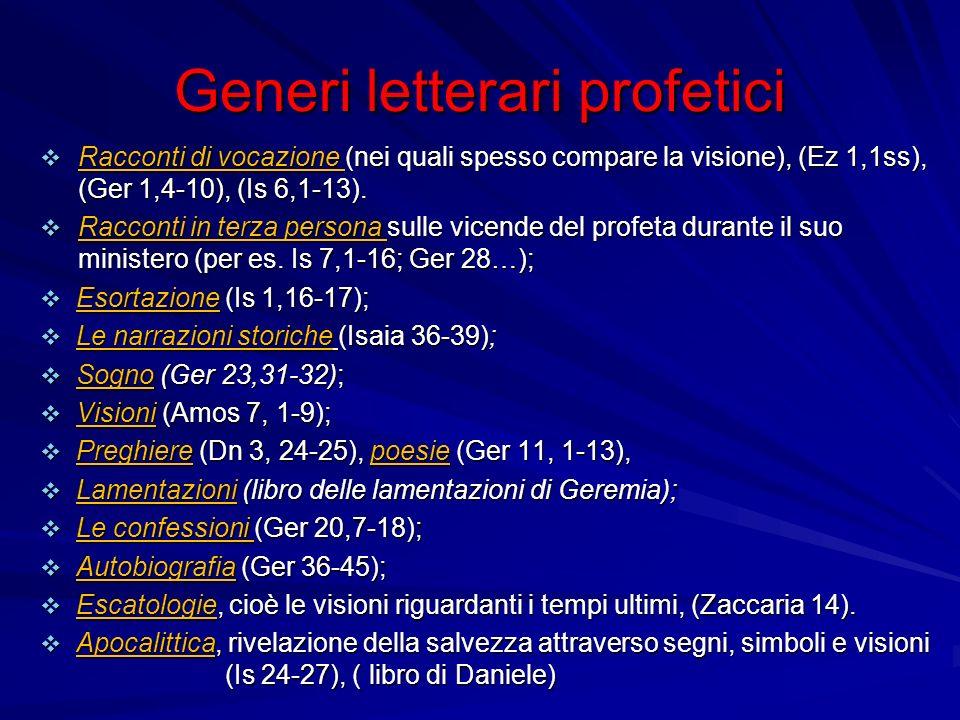 Generi letterari profetici