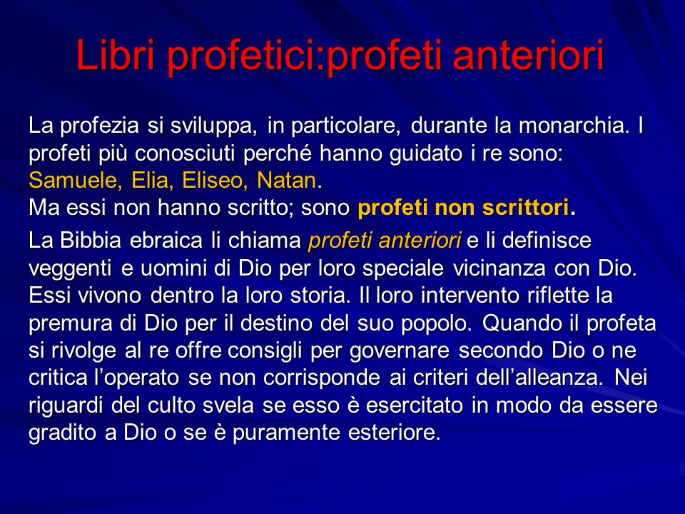 Libri profetici:profeti anteriori
