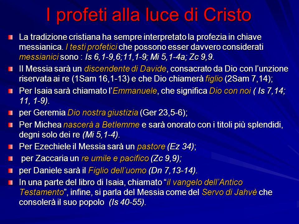 I profeti alla luce di Cristo