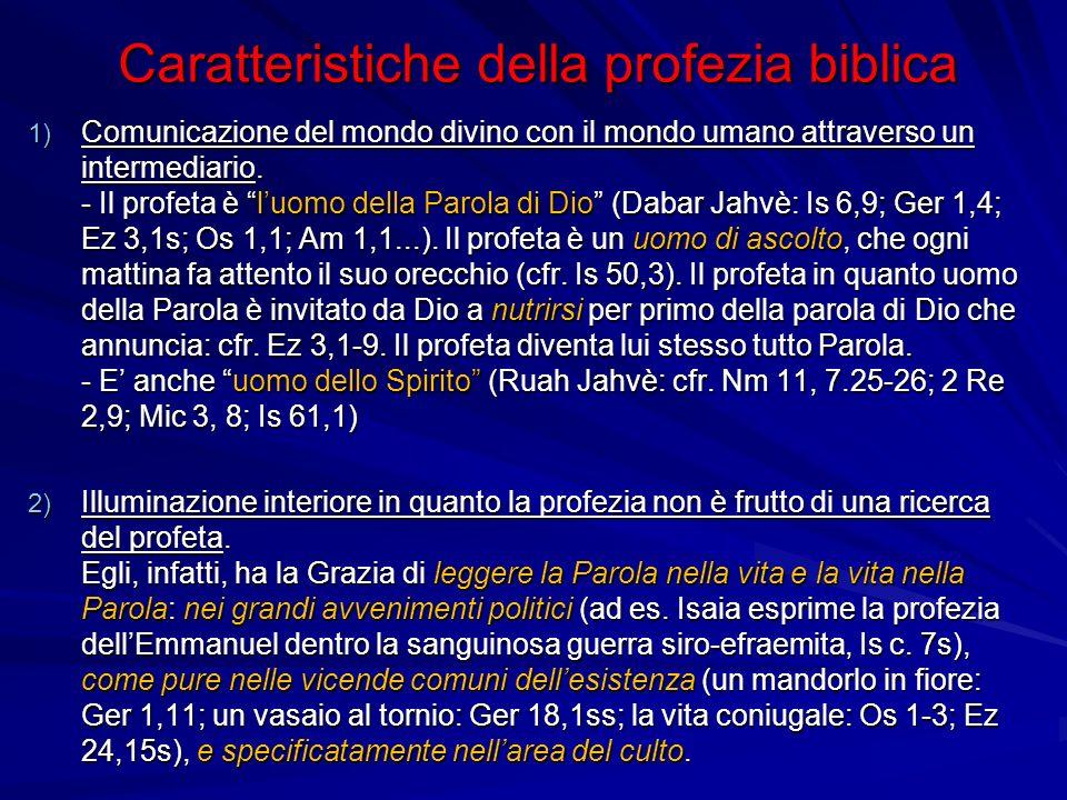 Caratteristiche della profezia biblica