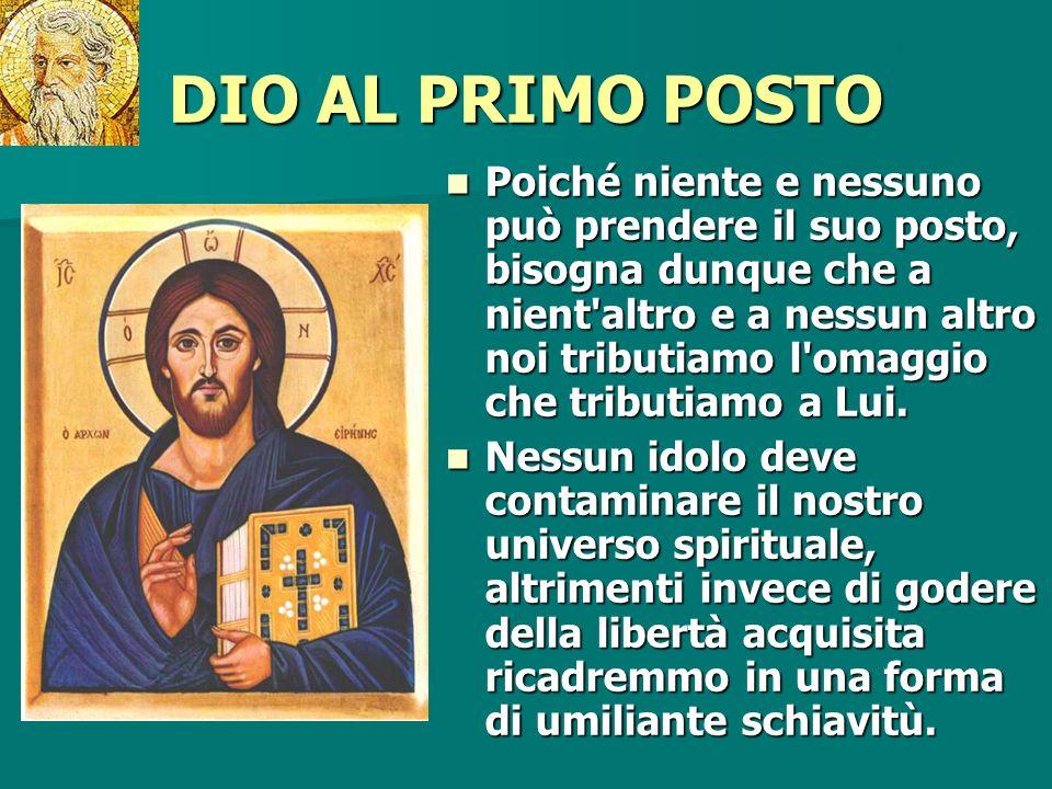 Pausa DIO AL PRIMO POSTO.