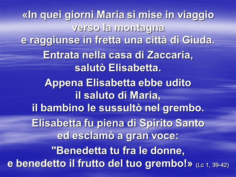 Entrata nella casa di Zaccaria, salutò Elisabetta.