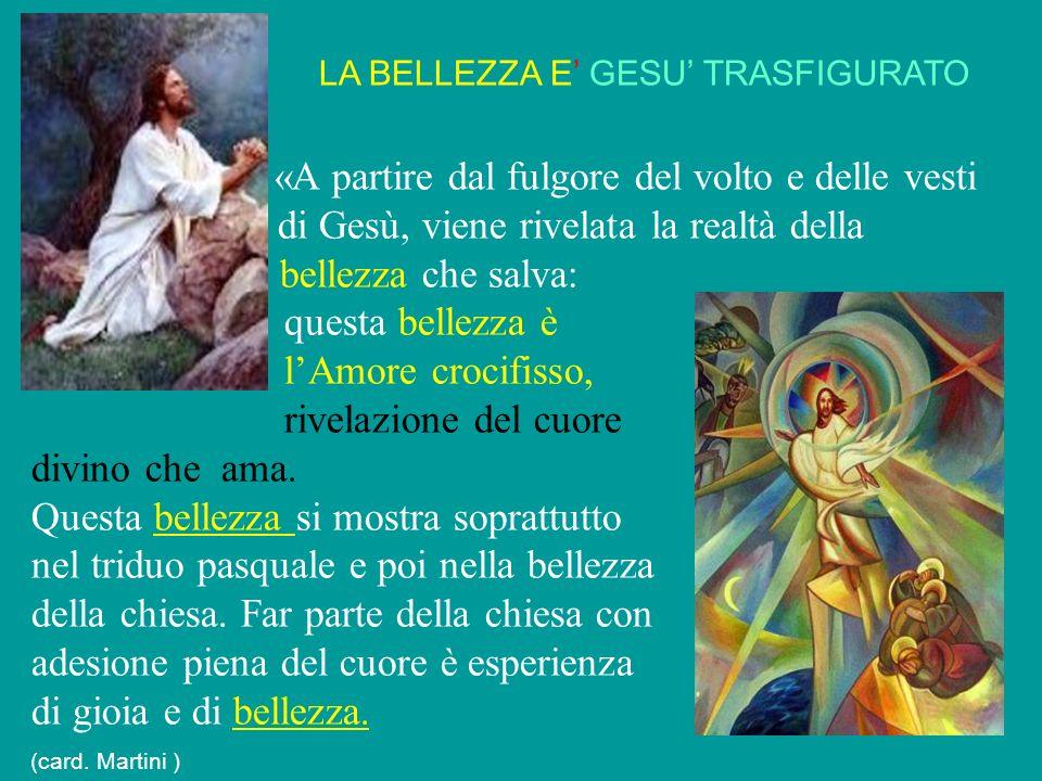 LA BELLEZZA E' GESU' TRASFIGURATO