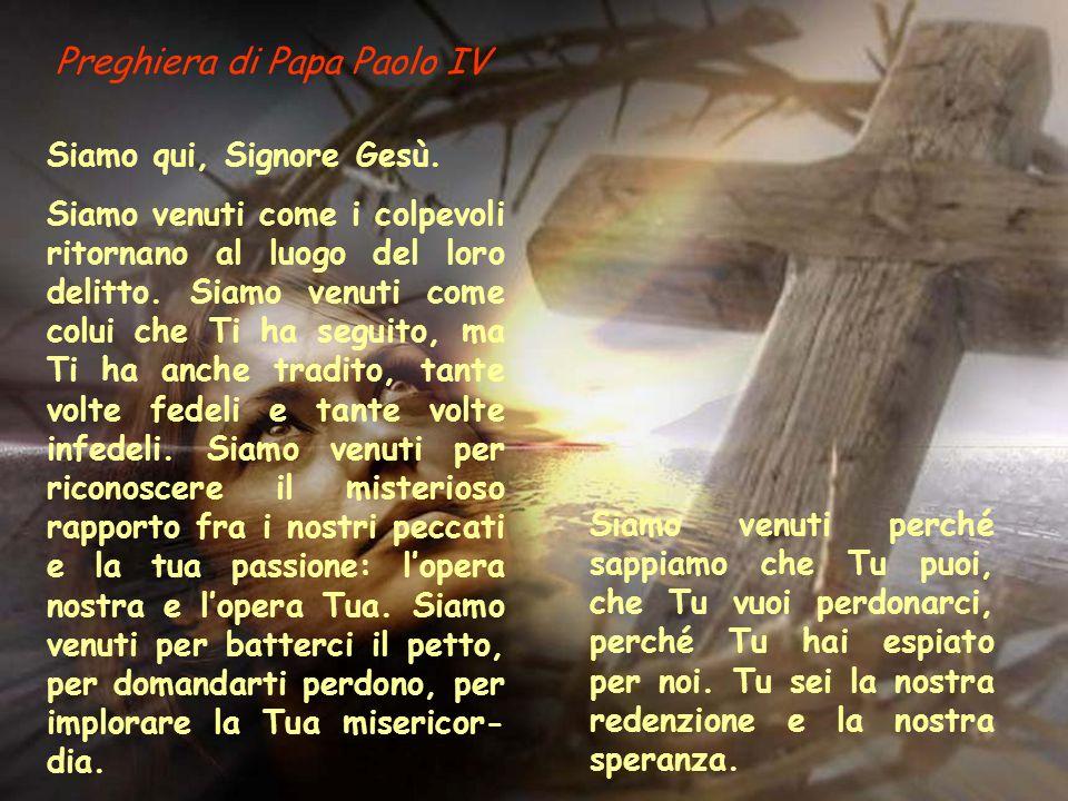 Preghiera di Papa Paolo IV